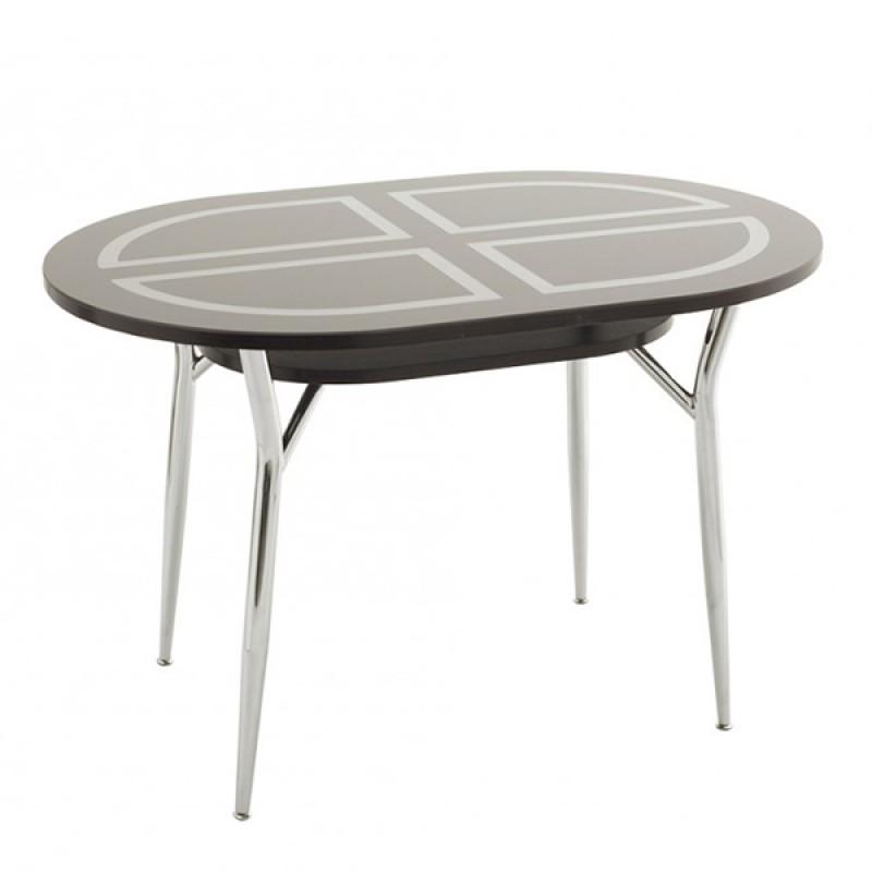 Овальный стол Шанхай-3 со стеклом
