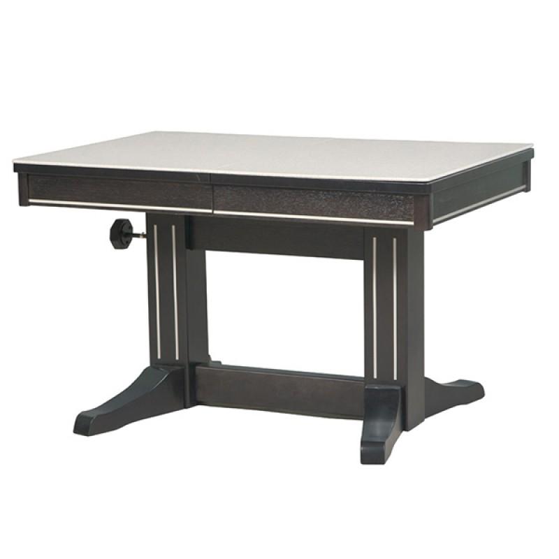 Обеденный стол-трансформер Темпо с камнем