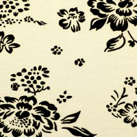 Ткань цветы Крем К3