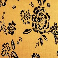 Ткань цветы Золото К4