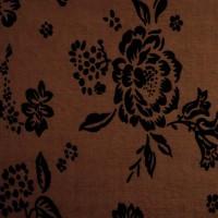 Ткань цветы Темное Золото К5