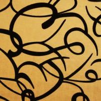 Ткань узор Золото М4