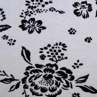 Ткань цветы Серебро К1
