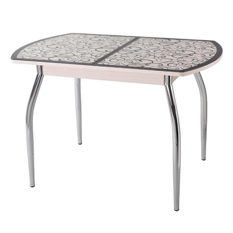 Раздвижной стол Чинзано ПО1 ст2 со стеклом