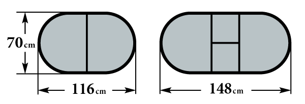 Стол Пешта-О2 размер 70х116 (148) см