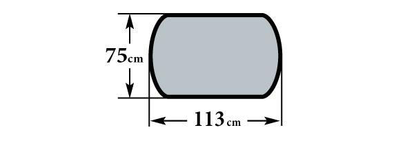 Размер стола Реал ПО2 75х113