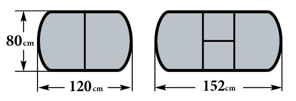 Размер стола Братислава-2 80х120(152) см