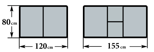 Размер стола Бамберг-2 80х120(155) см