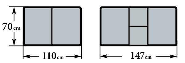 Размер стола 70х110 (147) см