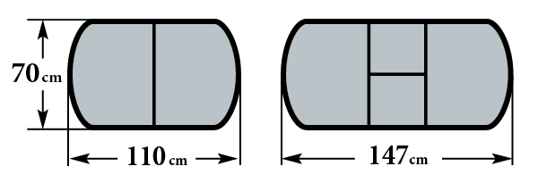 Размер стола Чинзано ПО, Реал ПО, Аликанте ПО и Толедо ПО