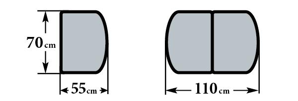 Размер стола Дрезден М3