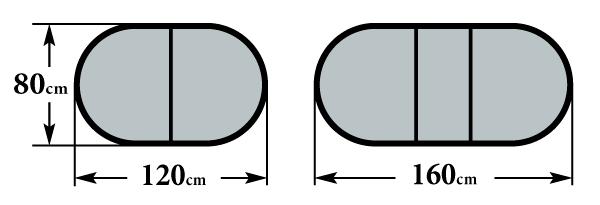 Размер стола Фагот 80х120(160)х75