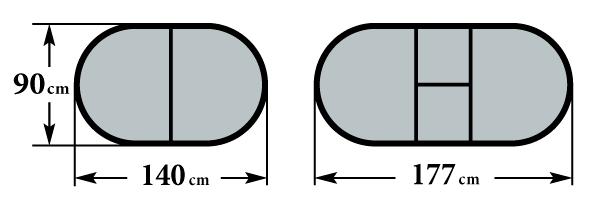 Размер стола Фиеро 90х140(177)х76