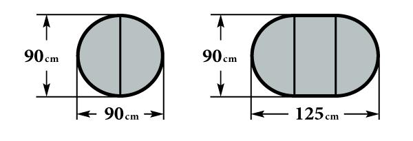 Размер стола Форте К900 Ф90(125)х76