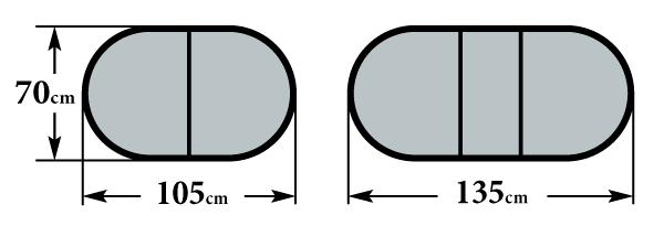 Размер стола Форте 70х105(135)х76