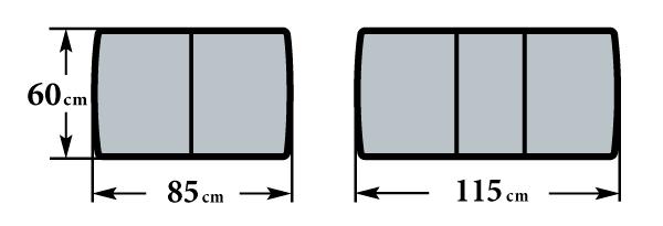Размер стола Форте МП 60х85(115)х76