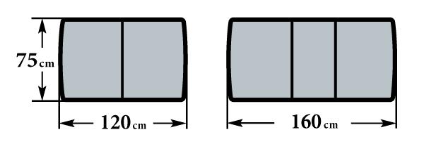 Размер стола Гамма П 75х120(160)х76