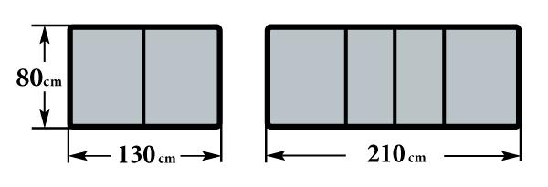 Размер стола Граве Б 2 вкладыша 80х130(210)х76
