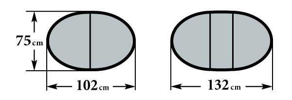 Размер стола Ларго М 75х102(132)