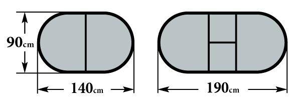 Размер стола Мартеле О 140(190)х90х76