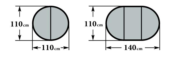 Размер стола Мартеле К1100 Ф110(140)х76
