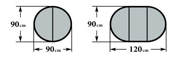 Размер стола Мартеле Ф90(120)X76