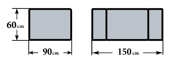 Размер стола Милан-2 60х90 (150)