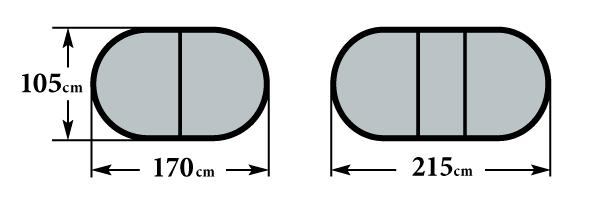 Размер стола Пассаж 1700 1 вставка 105х170(215)