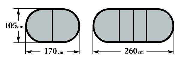 Размер стола Пассаж 1700 2 вставки 105х170(260)