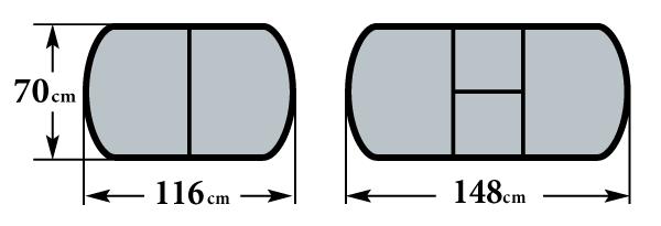 Размер стола Пешта-ПО 70х116 (148) см